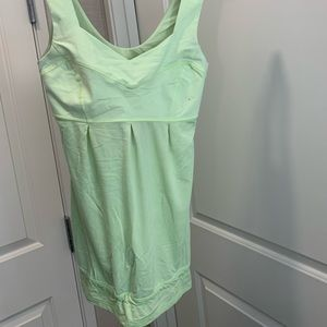 Lulu lime green tank with built in support